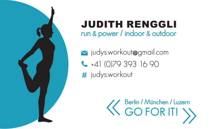 Judys Workout Visitenkarte